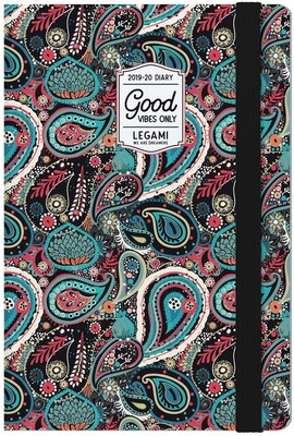 weekly diary with notebook 2020 paisley