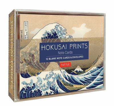 Hokusai Prints Note Cards - 12 Blank Note Cards and Envelopes (6 X 4 Inch Cards in a Box)