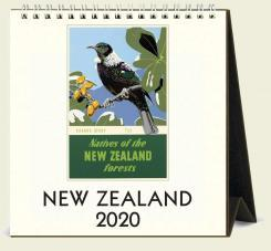 CAL20-51  DESK CALENDAR 2020 / New Zealand