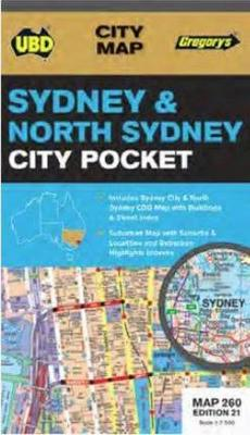 Sydney and North Sydney Pocket Map 260