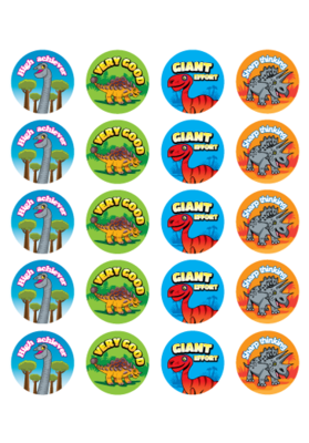 RIC-S9244 - Dinosaurs Stickers 100 pack - RIC