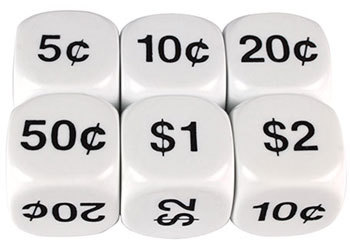 Dice Money Coins 22mm - TFC10038 - MTA