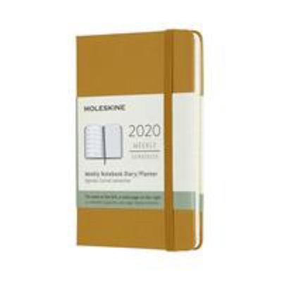 2020 Weekly Notebook Ripe Yellow Pocket Hardcover Diary Moleskine