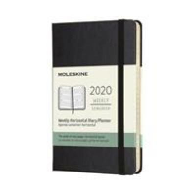 2020 Weekly Horizontal Black Pocket Hardcover Diary Moleskine