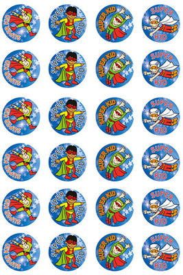 MS012 Merit Stickers Super Kid Boy Pack of 96 - ATA