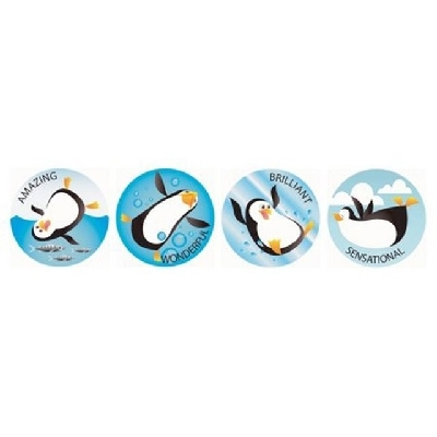 MS092 Playful Penguins Stickers Pack of 96 - ATA