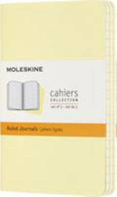 Moleskine Ruled Cahier  Set of 3 -  Tender Yellow Pocket Notebook