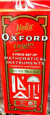 Helix Oxford Origin set of 9 Mathematical Instruments - 0351800 - GNS