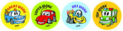 MS111 Crazy Car Stickers Pack of 96 - ATA