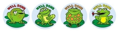 MS060 Merit Stickers Frogs Pack of 96 - ATA