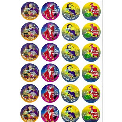 MS100 Witches & Wizards Stickers Pack of 96 - ATA