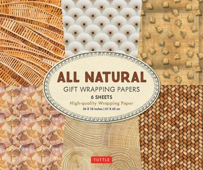 All Natural Gift Wrapping Papers - 12 Sheets of High-Quality 18 X 24 Inch Wrapping Paper