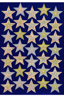 FS238 Gold Stars Foil Stickers Pack of 105 - ATA