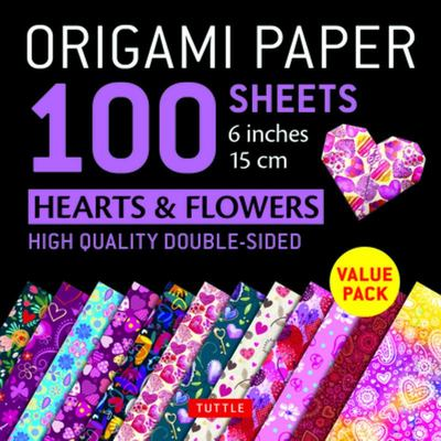 Origami Paper 100 Sheets Hearts and Flowers 6 (15 Cm)