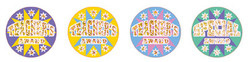 HT132 Teachers Award Holographic Foil Glitz Stickers 29mm Pack of 60 - ATA