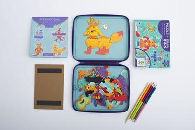 Puzzle and Draw Magnetic Kit - Crazy Monsters