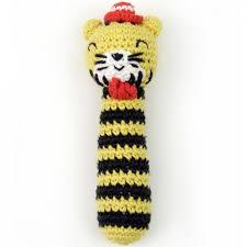 Tricky Tiger Crochet Rattle