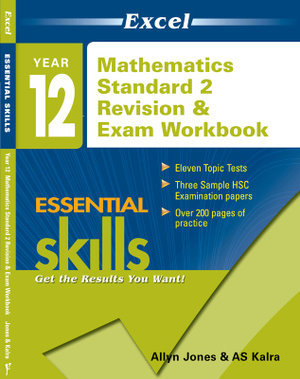 Year 12 HSC Standard Mathematics 2 Revision & Exam Workbook 2019