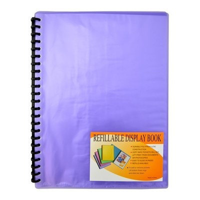 Display Book Refillable A4 Frost Purple 20 pages- 12268 - GNS