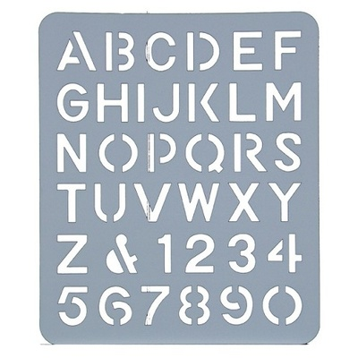 "Lettering Stencil 40mm  (1.5"") (44739)"