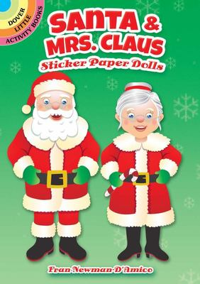 Santa and Mrs. Claus Sticker Paper Dolls