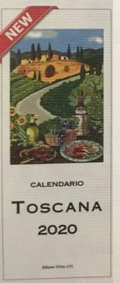 Toscana Italian 2020 Calendar 13.5 x 34cm