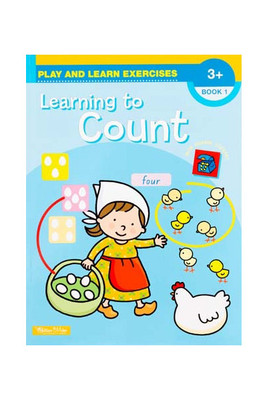 BZ143 Learning to Count Book 1 with Reward Stickers Ages 3+ - Ed