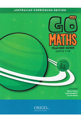 Go Maths ACE Year 4 Teacher Guide - Origo (set of 2 books)
