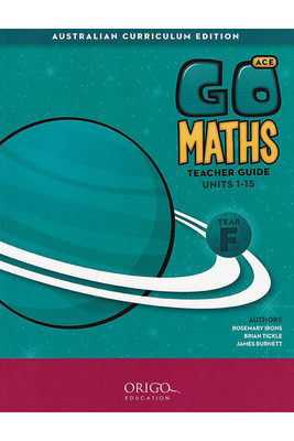 Go Maths ACE Year F Teacher Guide - Origo (set of 2 books)
