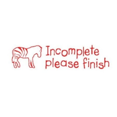 TS2363 Incomplete Please Finish Teacher Stamp - ATA