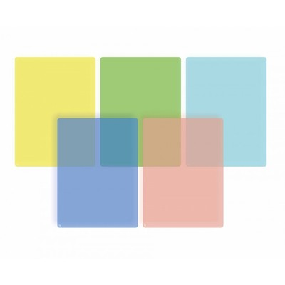 Page Overlays Coloured 5 Pack - Dyslexia