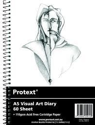 A5 Visual art diary 60 sheets Protext Acid Free Drawing Paper - GNS