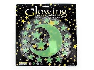 Glow in the dark moon and stars 18 piece - TNW