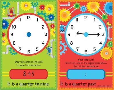 Telling the Time Flash Cards with wipe-clean Pen - Harper