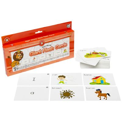 Sight Words Giant Flash Cards Ages 5+ - 144 cards - 13762 - GNS