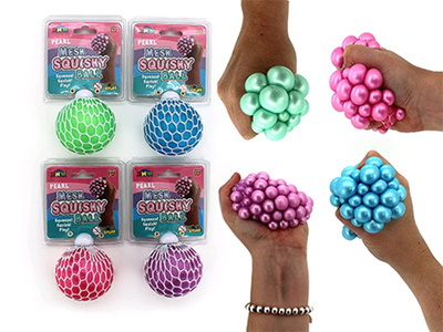Pearl Mesh Squishy Ball with header 60mm - TNW
