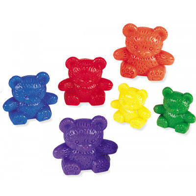 Three Bear Family Counters 6 colours (tub of 96)
