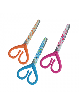130mm R/H M & G Scissors Heart Shaped Blunt Tip Assorted Colours - AST