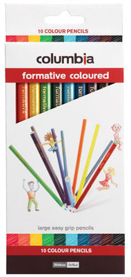 Columbia Formative Coloured Pencils Pack of 10 - 41262 - GNS