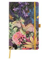 Eden Cockatiel Medium Ruled Notebook (CA-NBM-QC6-BM-002)