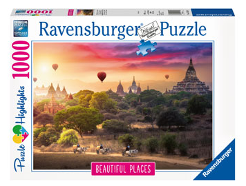 Ravensburger Hot Air Balloons Over Myanmar 1000pc