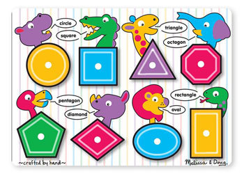 See Inside Shapes Peg Puzzle