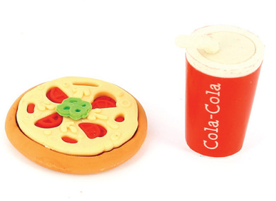 Pizza & Coke Eraser Set
