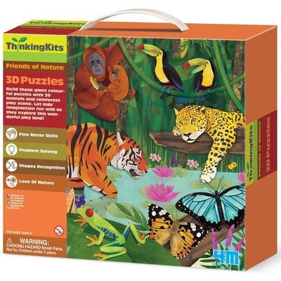 ThinkingKits 3D Puzzles Friends of Nature