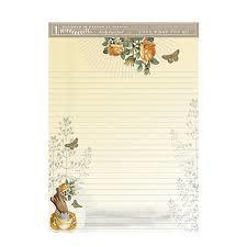 Large Writing Pad - Golden