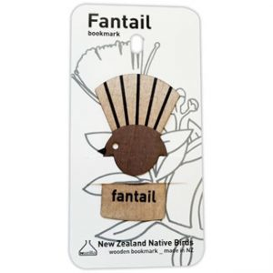 Wood Printed Bookmark Fantail