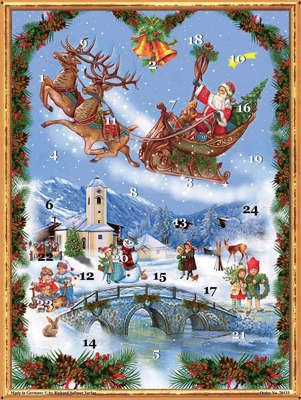 Advent Calendar Santa and Reindeer