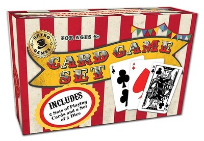 CARD GAMES SET RETRO RANGE CARDS & DICE ONLY