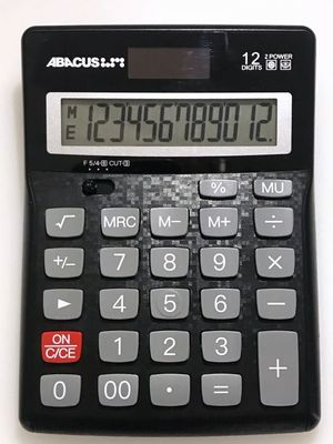 SX-12D Dual Power 12 Digit Abacus Calculator D819 - 5 year warranty- Abacus