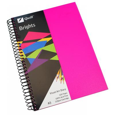 A4 Pink Quill Visual Art Diary 120 pages - 78791 - GNS